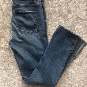 McGuire Denim Straight Leg with Ankle slit